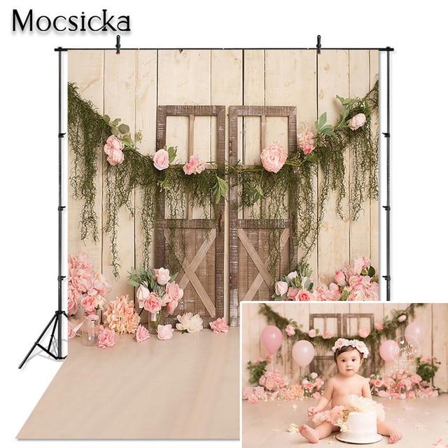 Mocsicka çocuk fotoğraf Backdrop bebek 1st doğum günü partisi şut kek dekor portre Photoshoot stüdyo arka plan Photocall