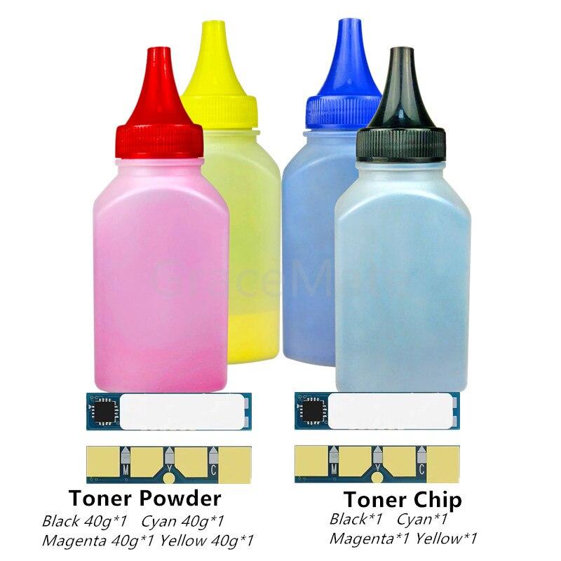 4 色のトナー粉用 samsung CLP320 CLP 320 321 325 CLX3180 CLX3185 CLX 3185 3180 CLT407S CLT-407S CLT 407S