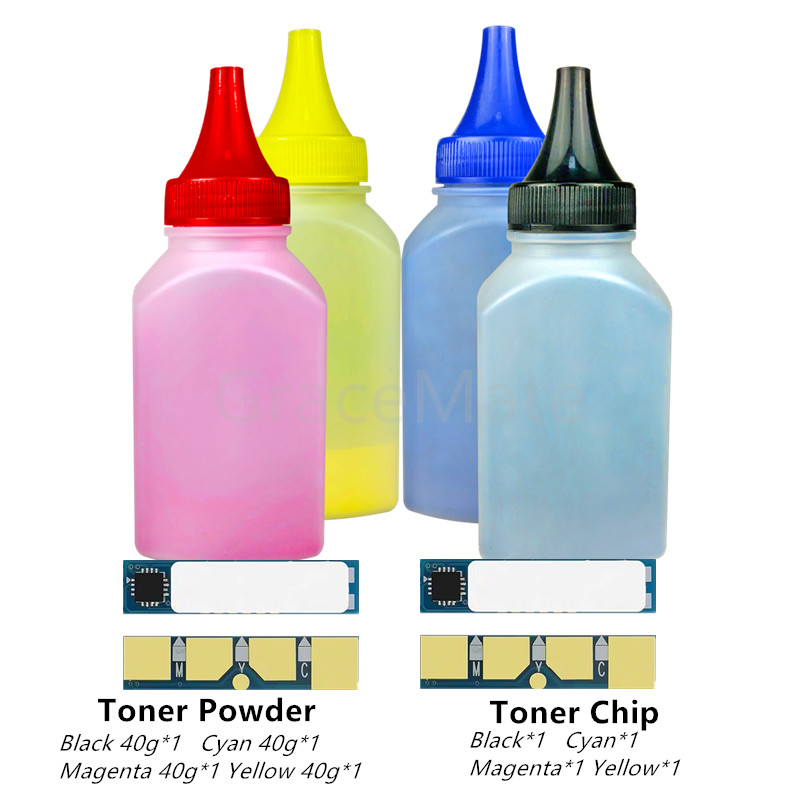 4 Colors Toner Powder With Chip For Samsung CLP320 CLP 320 321 325 CLX3180 CLX3185 CLX 3185 3180 CLT407S CLT-407S CLT 407S