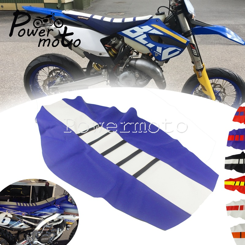 Black Motocross Gripper Seat Cover HUSQVARNA TC//FC 125//250//350//450 2016-2018