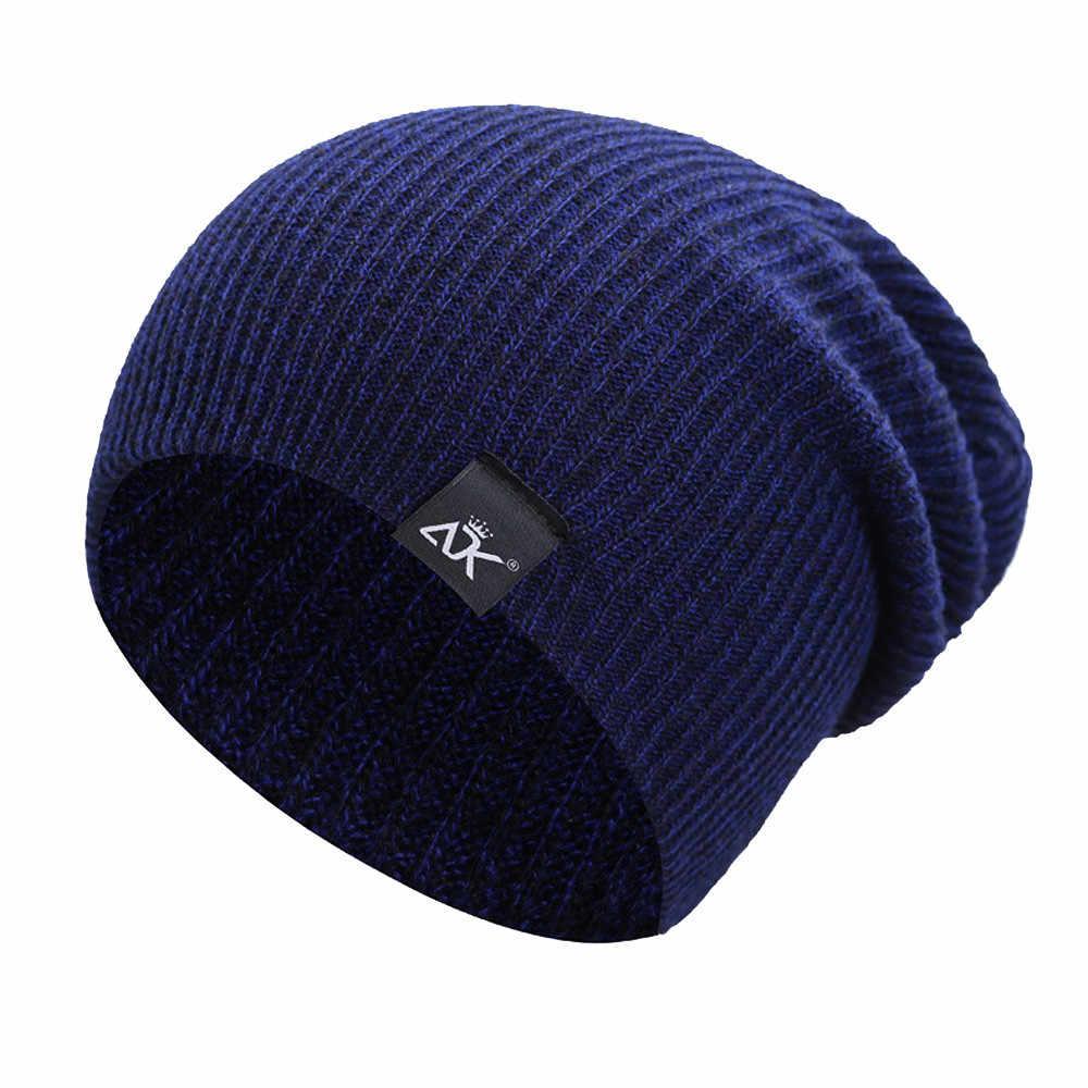 Hip-Hop เส้นใยอะคริลิคถักหมวกอบอุ่นฤดูหนาวหมวกหมวก Ome ทุกวันเพื่อให้ตรงกับผู้ชายหมวก gorros mujer invierno #445