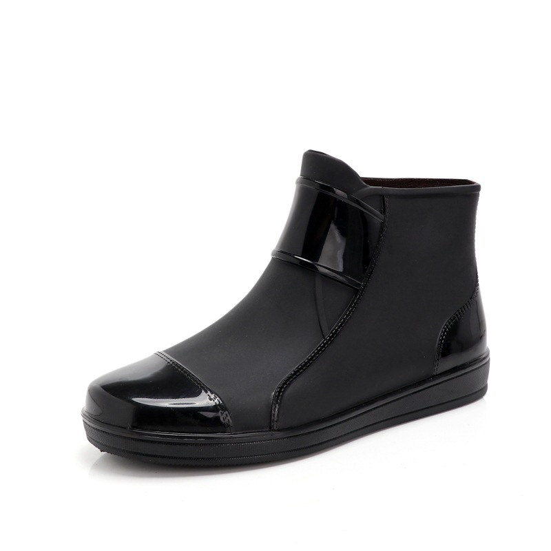 Men's Rain Boots Skid-proof And Wear-resistant Wash Shoes Waterproof Chef's Shoes Fashionable Overalls And Waterproof Shoes