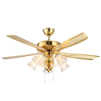 Vintage American Ceiling Fans with Lights Pull Rope Switch Ventilador Dining Room Bedroom Ceiling Light Fan E27 Nulb De Techo