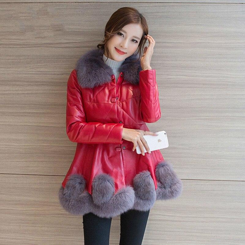 Genuine Leather Jacket Autumn Winter Sheepskin Duck Down Coat Women Clothes 2020 Real Fur Coat Female Vintage Thick Tops ZT4727