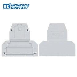 10 sztuk D-UKK3/5 dla UKK3 UKK5 wielkiej brytanii podwójny poziom blok zacisków akcesoria koniec pokrywka na szynę Din skynka zaciskowa