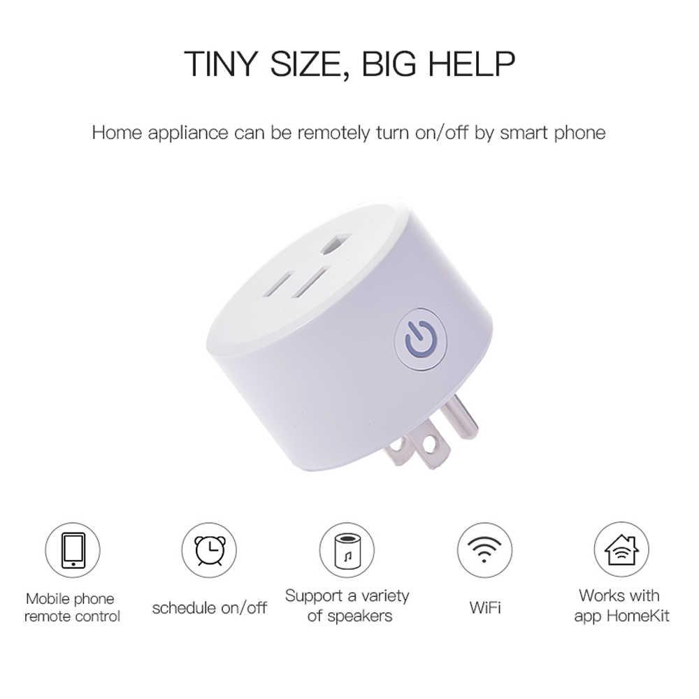 LEORY Mini 2 HOA KỲ Thông Minh WIFI Ổ Cắm Điều Khiển Giọng Nói Tác Phẩm với Apple_HomeKit Công Nghệ (iOS12 hoặc +) alexa Google Assistan
