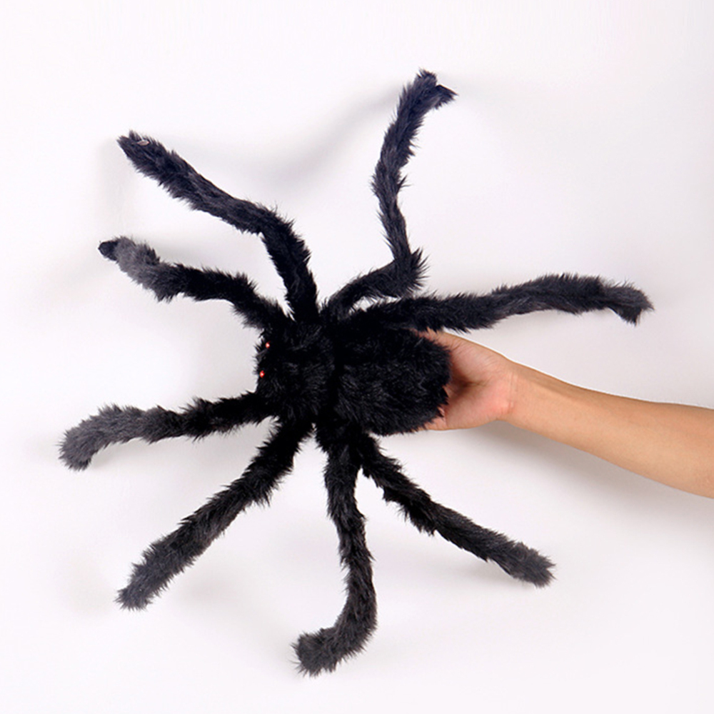 Foldable Outdoor Halloween Decorations Scary Giant Spider Fake Large Props For Yard Party Decor