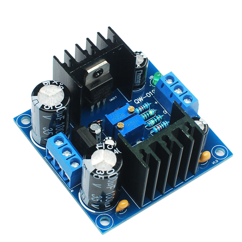 LM317 LM337 Positive And Negative Dual Power Adjustable Power Supply Board Diy Kit