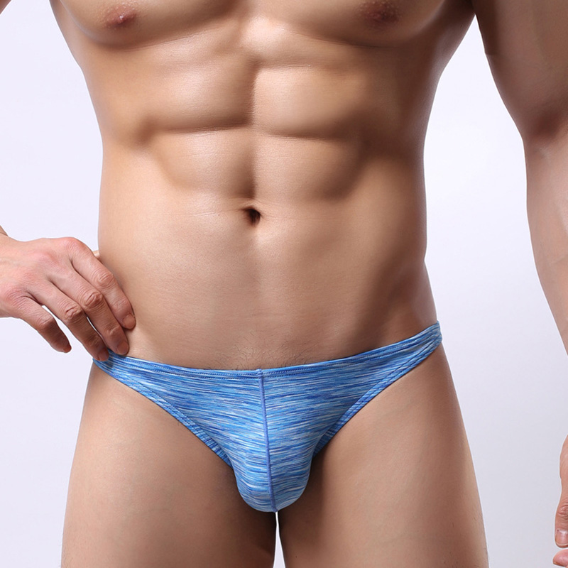 Men's Briefs Contrast Color Low-rise Briefs Sexy Seamless Breathable Underwear Male Underpants Intimates Panties
