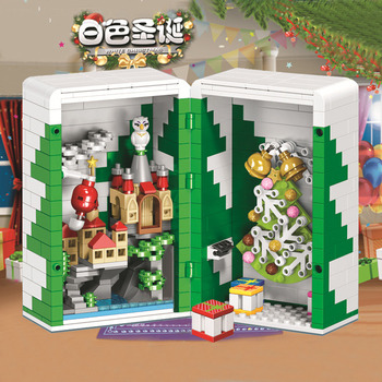 LEGOing Creator Christmas Tree Santa Claus Building Blocks Merry Christmas Gift Box Decorations For Home LEGOings Toys Children