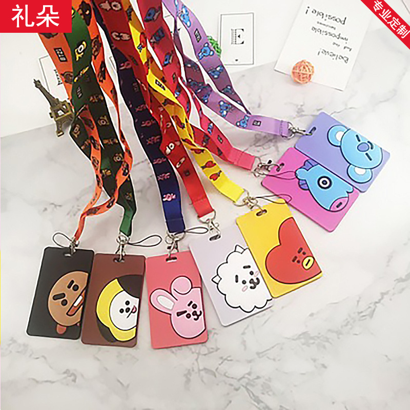 New Style Creative BTS Cartoon Waterproof Bus Card Holder Manufacturers Direct Selling Fashion PVC Silica Gel Certificate Card S