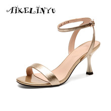 AIKELINYU Arrival Hot-selling Summer Shoes Peep Toe Sweet Fashion Womens Sandals Thin Heel Pumps Concise High Heels Women
