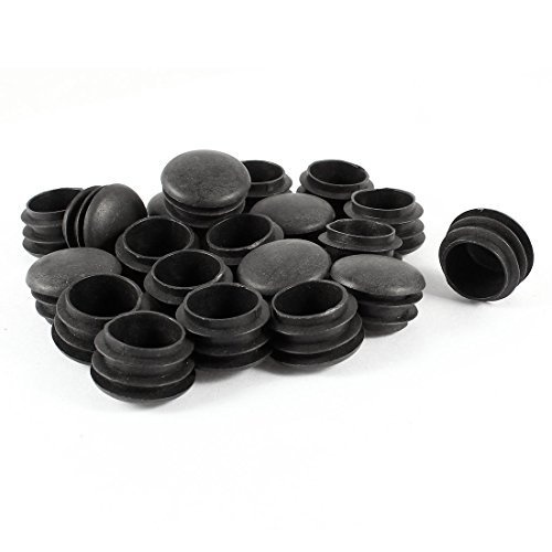 20Pcs/Set New Plastic Furniture Leg Plug Black Round Steel Pipe Tube Blanking End Caps Insert Plugs 25mm Decorative Dust Cover
