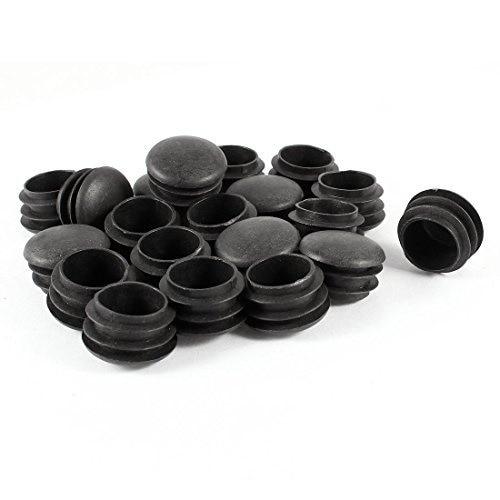 20Pcs/Set New Plastic Furniture Leg Plug Black Round Steel Pipe Tube Blanking End Caps Insert Plugs 25mm Decorative Dust Cover