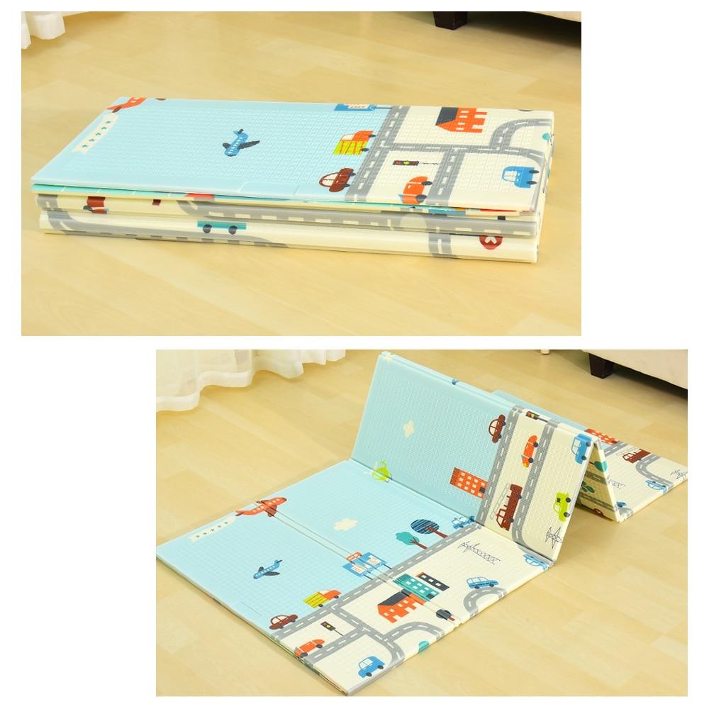 Miamumi Foldable Floor Baby Play Mat Kid Playmat Crawling Carpet Children Toddler Thermal Rug Game Pad Foam Educational Toy Gift