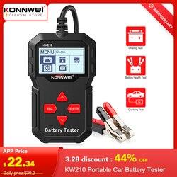 KONNWEI KW210 Автоматический Смарт 12 в автомобильный тестер батареи автоматический анализатор батареи от 100 до 2000 cca скручивающийся автомобильны...