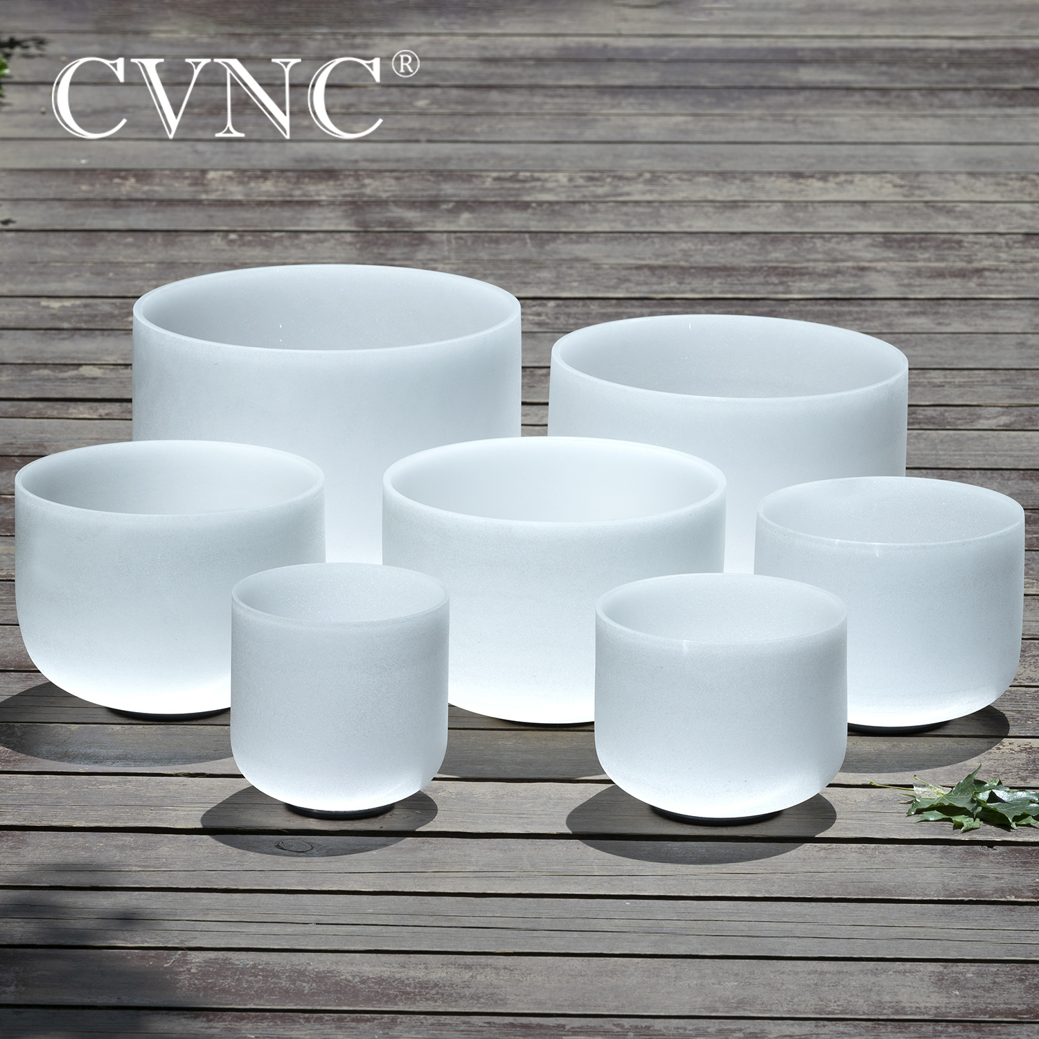 "Купить с кэшбэком CVNC 440Hz 7""-13""  set of 7PCS Chakra Frosted Quartz Crystal Singing Bowl Healing"