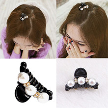 Luxury Pearls Hairpins Hair Ornaments Trendy Clip Shiny Pearl Crab Claws For Girl Clips Accessories Headwear