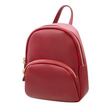 #H40 New Designer Fashion Women Backpack Mini Soft Touch Multi-Function Small Backpack Female Ladies Shoulder Bag Girl Purse(China)
