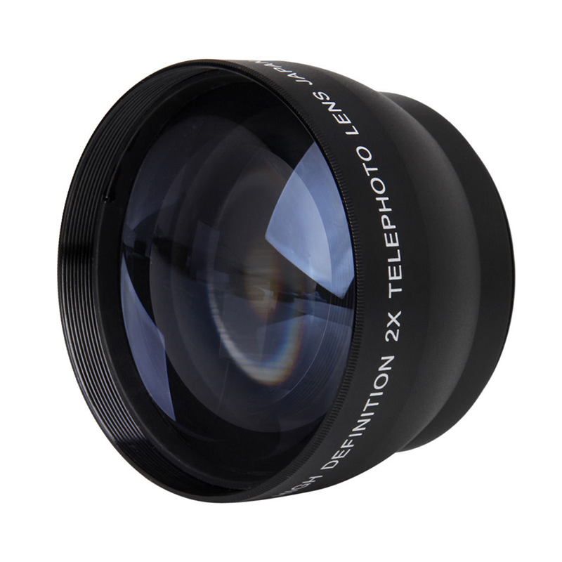 ABKT-52mm 2X nification Telephoto Lens for <font><b>Nikon</b></font> AF-S <font><b>18</b></font>-55mm 55-<font><b>200mm</b></font> Lens Camera image