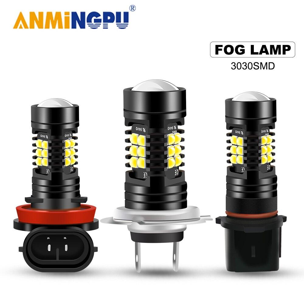 ANMINGPU 2 шт. Автомобильные противотуманные фары H7 Led Canbus HB3 9005 HB4 9006 H11 H8 H9 H16 светодиодные противотуманные PSX24W PSX26W светодиодные лампы P13W 21SMD 3030 чи...