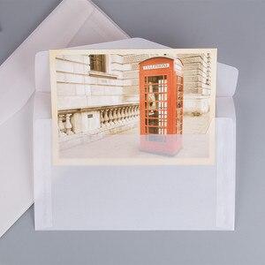 Image 3 - 50pcs Blank Doorschijnend Papier Envelop Vintage Enveloppen Voor Uitnodigingen Wedding Gift Card Envelop Postkaarten Brief Opbergtas