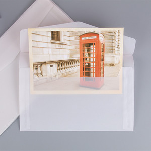 Image 3 - 50pcs Blank Translucent Paper Envelope Vintage Envelopes For Invitations Wedding Gift Card Envelope Postcards Letter Storage Bag
