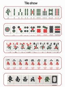 Image 5 - Cor jade branco 40mm ou 42mm padrão chinês mahjong 144 peças telhas jogo conjunto completo na mesa