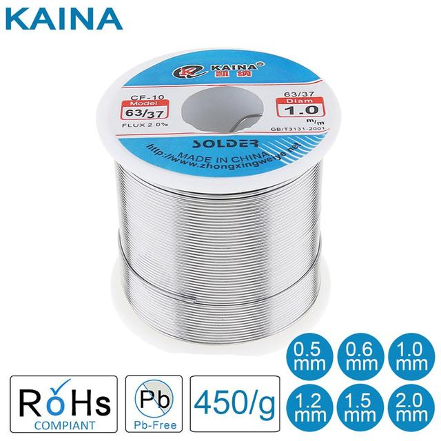 63/37 450g 0.5/0.8/1.0/1.2/1.5/2.0mm פח בסדר חוט ליבת רוזין הלחמה חוט עם 2% שטף נמוך נקודת התכה אבזרים