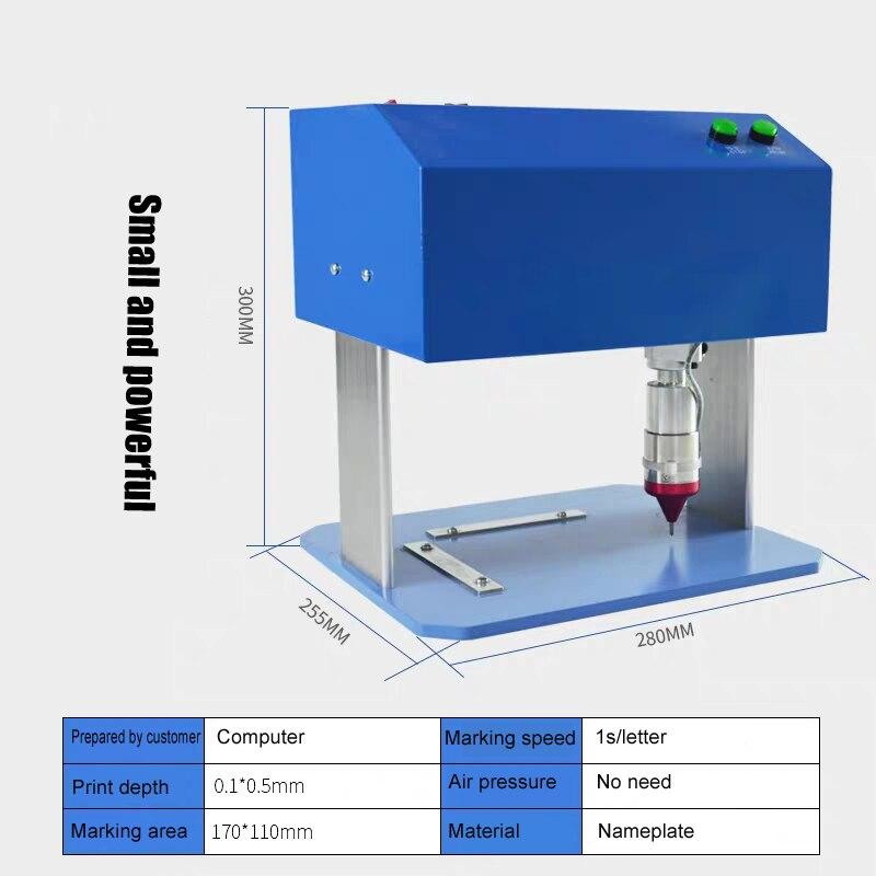 Tabletop Metal Engraving Machine Nameplate Printing Machine For Metal Plate