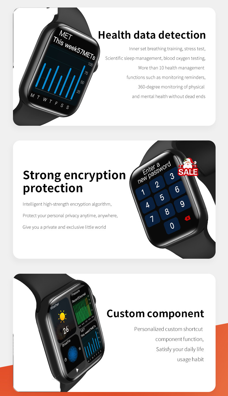 Hcb274891d9ed4c7989dc7a419952afe0p Original HW16 44mm Smart Watch Series6 Men 320*385 Screen Custom Picture Smartwatch Women BluetoothCall 2021 pk FK88 IWO13 W46