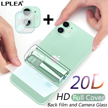 Full Cover Hydrogel Film For iPhone 11 12 Pro Max mini XR XS X Screen Protector Back Film iPhone 7 8 Plus Camera Tempered Glass 1