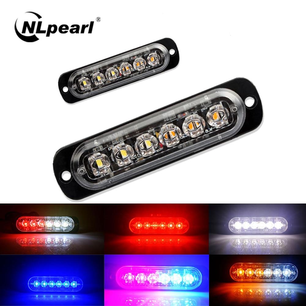 NLpear 12V 24V Grille LED Emergency Strobe Light for Truck Trailer Flash Warning Side Marker Light Stop Lamp Car External Light(China)