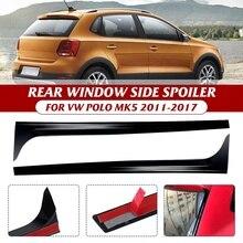 سبويلر للنافذة الخلفية للسيارة من فولكس فاجن ، سبويلر جانبي للنافذة الخلفية باللون الأسود اللامع ، لـ VW Polo MK5 2011 2017/VW Polo MK6 2018 ، 2 قطعة