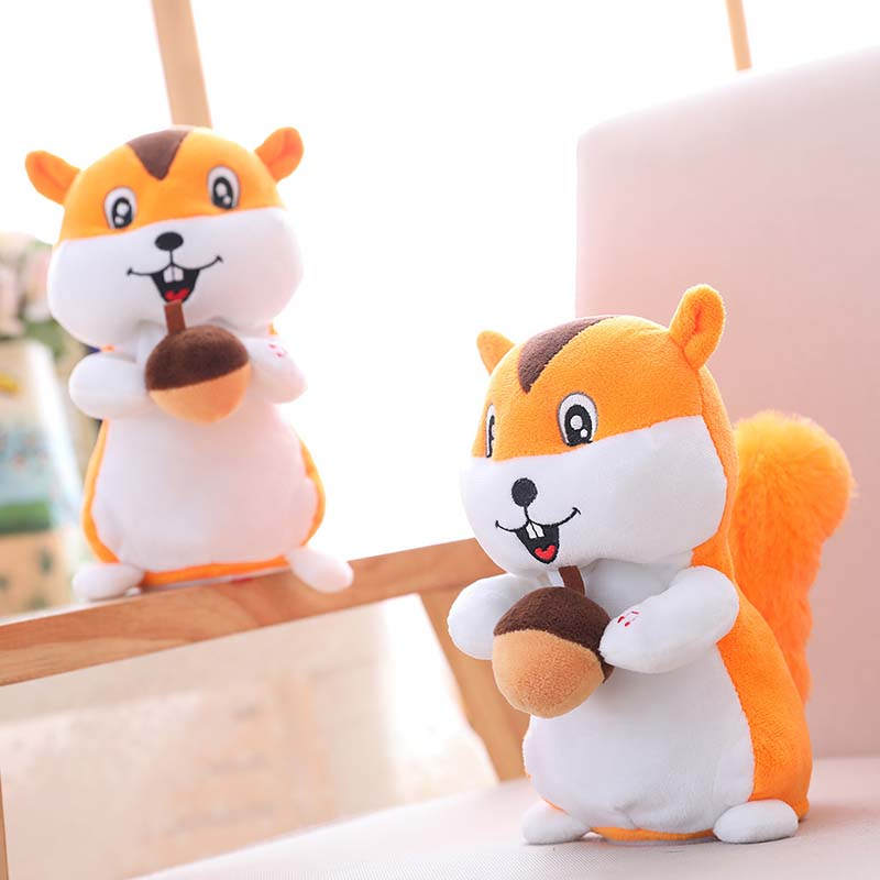 Cartoon Plush Screaming Hamster Squirrel Toy Doll