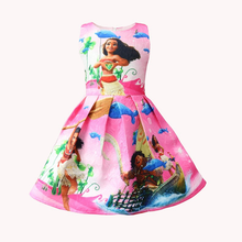 цена на princess dress girl moana clothes baby kids dresses for girls cartoon vestido infantil roupas menina toddler frocks vestiti
