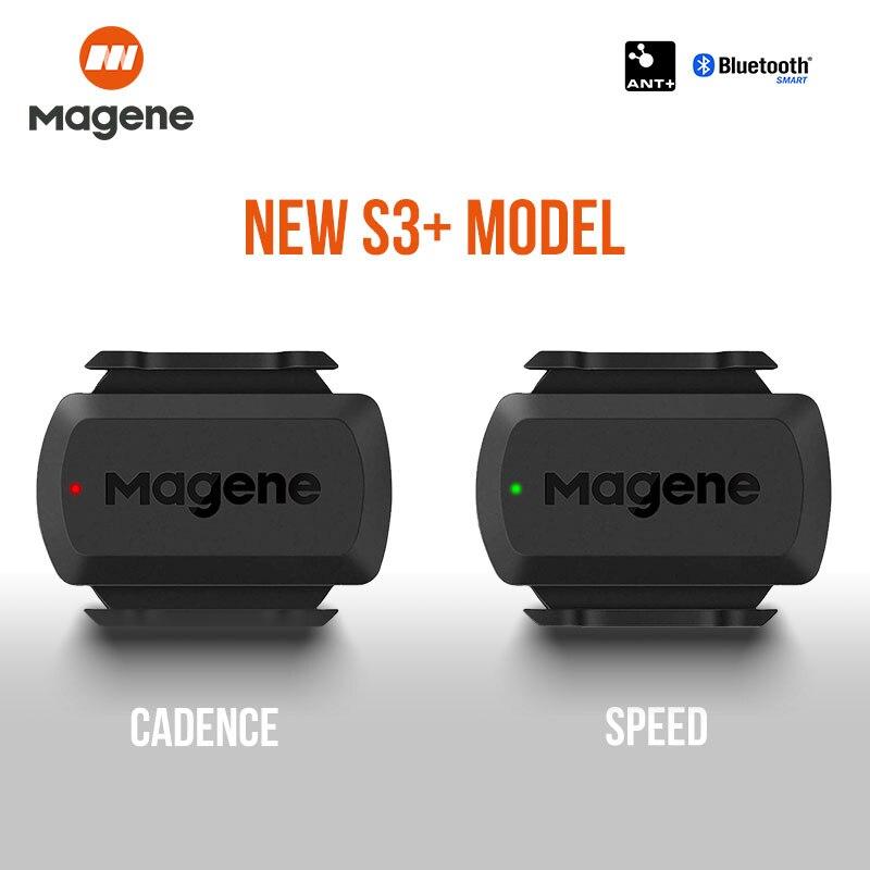 Magene S3+ Speed Cadence Sensor ANT+ Bluetooth Computer Speedmeter For Strava Garmin IGPSPORT Bryton Dual Sensor Bike Computer