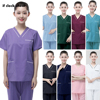 Short Sleeve Clinical uniforms woman Multicolor Pet grooming working clothes High quality scrubs uniforms dental clinic workwear