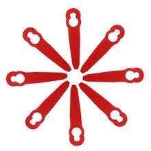8 шт. пластмассовых лезвий для триммера Stihl PolyCut 2-2 FSA 45 газонокосилка для травы Легкая отделка триммер садовые инструменты