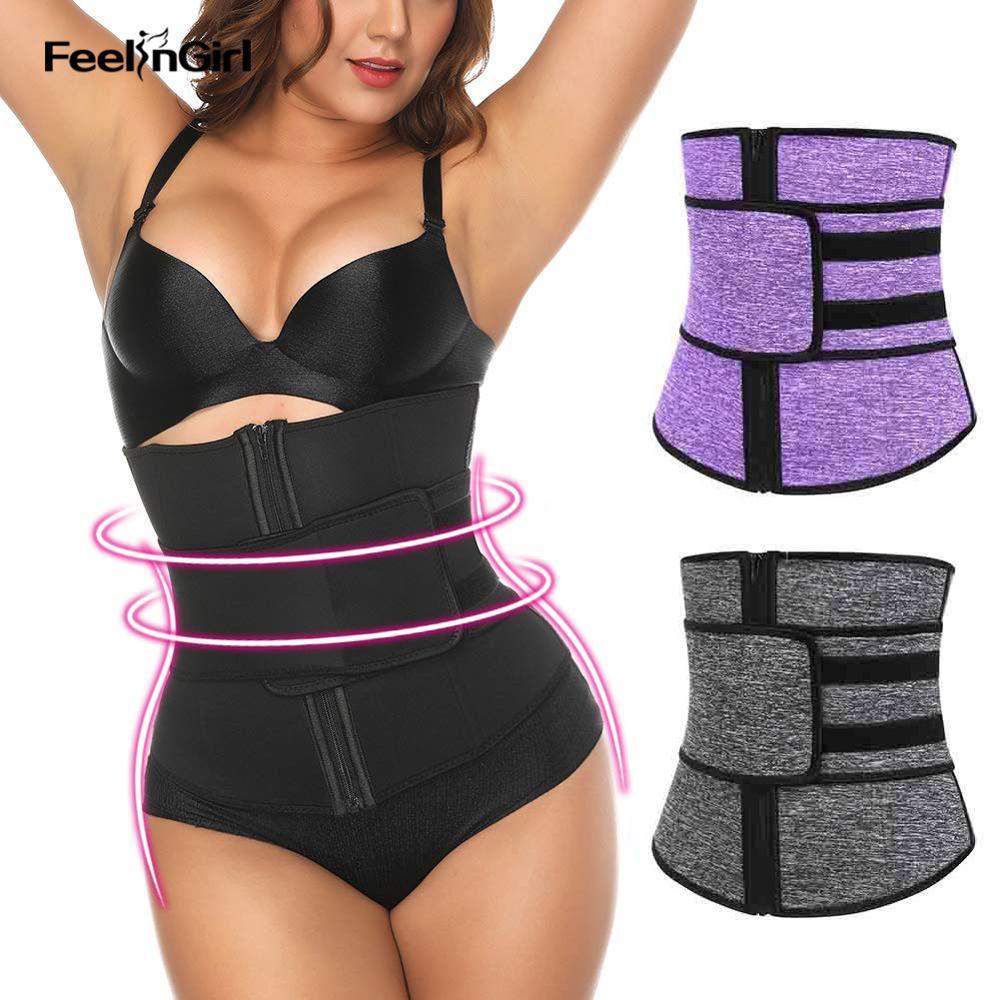 Waist Trainer Belt Zipper Body Shaper Zip Girdle Slim Belt Band adjustable