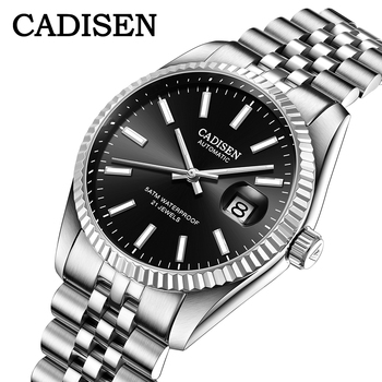 CADISEN Brand Luxury Automatic Watch Business Sport Stainless Steel Waterproof Men relogio masculino Mechanical - discount item  45% OFF Men's Watches