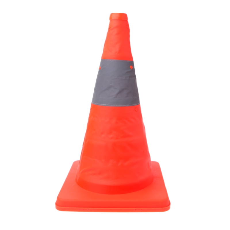 Telescopic Folding Road Cone Barricades Warning Sign Reflective Oxford Traffic Cone Traffic Facilities For Road Safety 4.3