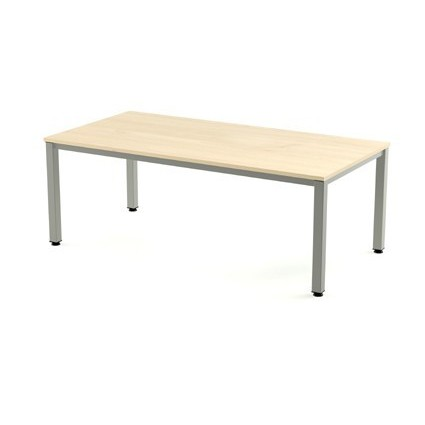 TABLE OFFICE 'S EXECUTIVE SERIES 140X80 ALUMINUM/BEECH