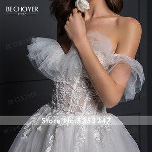 Image 3 - Vestido de Noiva Romantic Appliques Tulle Wedding Dress Sweetheart 2 In 1 Illusion A Line Princess Bride Gown BECHOYER Z124
