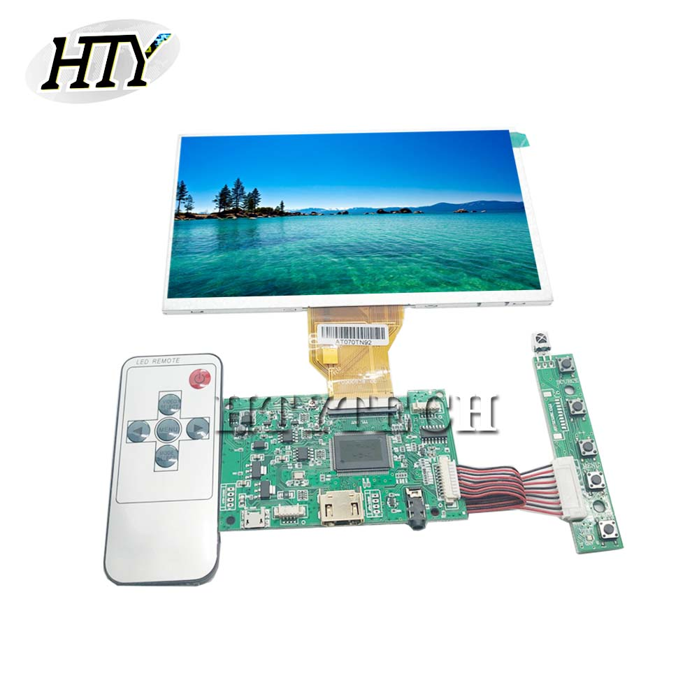 HTYTECH Driver Board LCD Screen Controller HDMI FOR AT070TN90 AT070TN92 V.X LCD Screen 7DD1+1 FPC <font><b>800</b></font>*480 Micro <font><b>USB</b></font> 50 Pins image