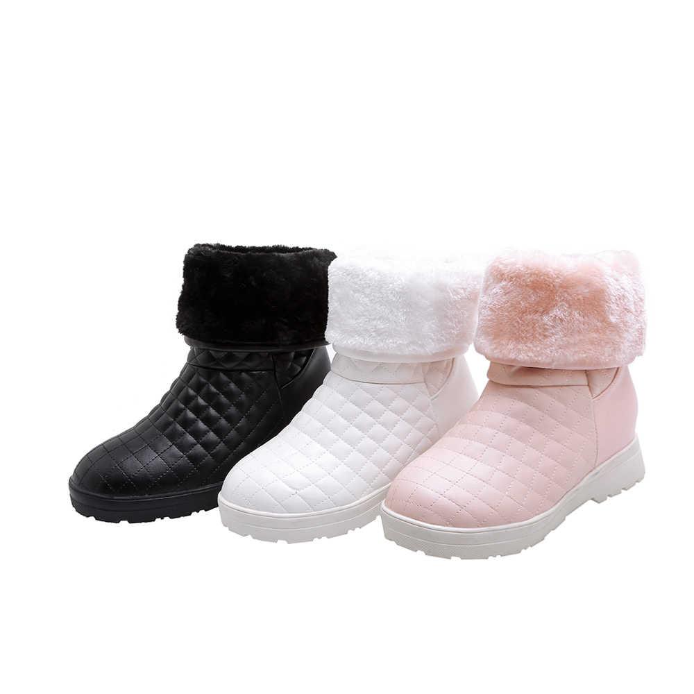 Stivali da neve delle donne 2019 di inverno stivali piattaforma di spessore peluche caldo antiscivolo impermeabile scarpe invernali formato 35-43
