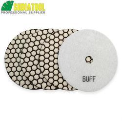 SHDIATOOL 4 sztuk 125mm # WBUFF tarcze do polerowania na sucho szlifierka szlifierka żywica bond diament elastyczne polerka granitu marmuru polerowanie
