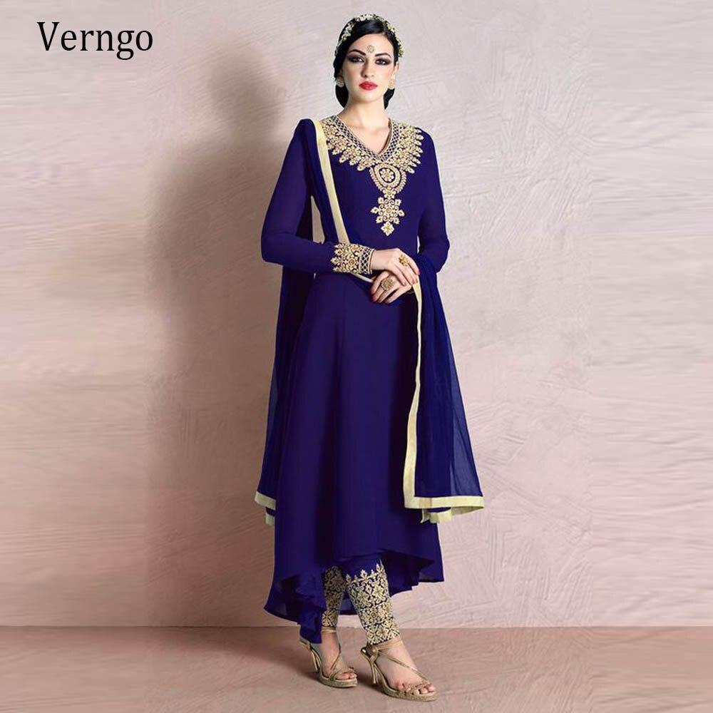Вечерние платья verngo Королевский синий марокканский кафтан