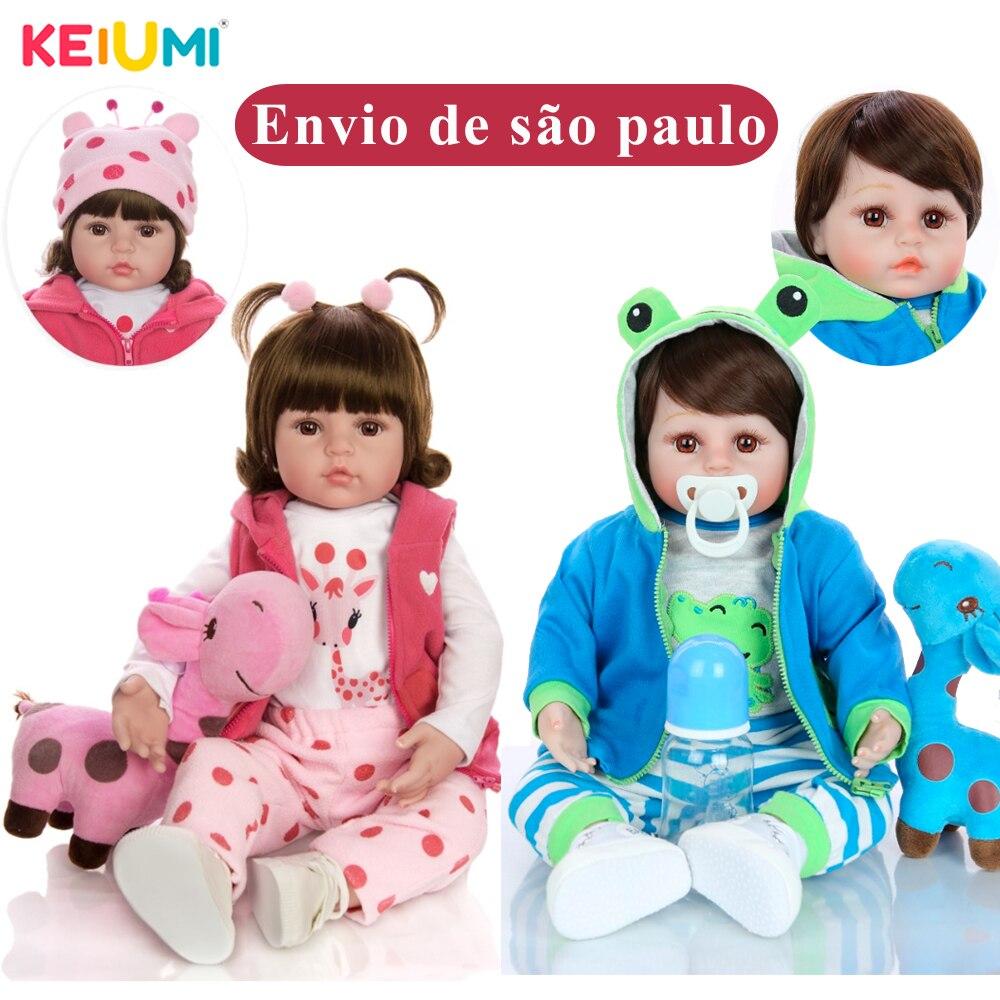 Venda quente Brinquedo Da Boneca Reborn Bebê Silicone Macio Vinil Bonecas Realistas Com Girafa Criança presente de Aniversário Presente do Dia das Crianças presente