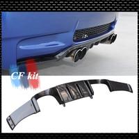 Car Rear Bumper Lip Carbon Fiber Diffuser For 2007 2012 BMW E92 M3 Coupe Only H Style E92 Back Lip Car Styling
